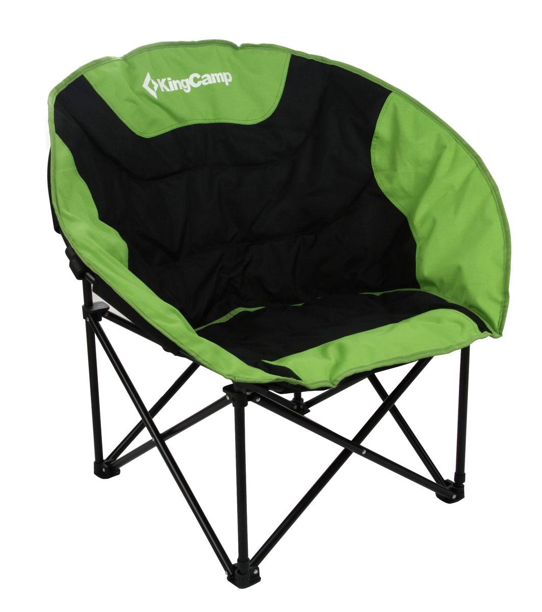 Кресло складное KingCamp Moon Leisure Chair, цвет: зеленыйУТ-000049531Складное круглое кресло KingCamp Луна с широким сиденьем - незаменимый предмет в походе, на природе, на рыбалке, а также на даче. Кресло имеет прочный металлический каркас и покрытие из уплотненного мягкого текстиля, оно легко собирается и разбирается и не занимает много места, поэтому подходит для транспортировки и хранения дома. Для большего удобства к креслу прилагается чехол для хранения с удобной ручкой. Характеристики:Размер в разложенном виде: 84 см х 70 см х 80 см. Высота спинки сиденья: 38 см. Размер в сложенном виде: 90 см х 30 см х 15 см. Материал: полиэстер 600D Oxford с покрытием ПВХ, нержавеющая сталь. Наполнитель: пена PVC. Вес: 4,6 кг. Производитель: Китай.Артикул: 3816 green.
