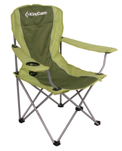 Кресло складное KingCamp Arms Chair In Steel, цвет: зеленыйУТ-000049543Складное кресло с широким сиденьем и подлокотниками станет незаменимым предметом в походе, на природе, на рыбалке, а также на даче. На подлокотнике имеется подставка для бутылки или стакана. Кресло имеет прочный металлический каркас и покрытие из текстиля, оно легко собирается и разбирается и не занимает много места, поэтому подходит для транспортировки и хранения дома. Для большего удобства к креслу прилагается чехол для хранения с удобной ручкой. Характеристики: Размер в разложенном виде: 84 см х 50 см х 96 см. Высота спинки сиденья: 44 см. Размер в сложенном виде: 90 см х 18 см х 13 см. Материал: полиэстер 600DOxford PVC, сталь. Производитель: Китай. Артикул: 3818.