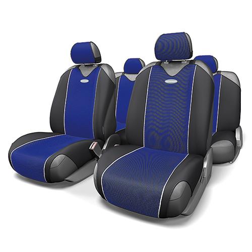 Чехлы-майки Autoprofi Carbon, полиэстер под карбон, цвет: синий, 9 предметов. CRB-802 BL98298130Autoprofi Carbon - наиболее респектабельная модель автомобильных чехлов-маек. Материал изделия повторяет переливающийся рисунок настоящего карбона и придает чехлам презентабельный и дорогой вид. Для автомобильного интерьера с карбоновыми элементами чехлы Carbon являются наиболее гармоничным дополнением. По форме чехлы напоминают майку. Благодаря этому они быстро и без усилий надеваются на кресла, не требуя демонтажа подголовников или подлокотников. Эластичный полиэстер изделий позволяет использовать их на любых типах сидений.Комплектация: - 1 сиденье заднего ряда, - 1 спинка заднего ряда, - 2 чехла переднего ряда, - 5 подголовников, - набор фиксирующих крючков.Особенности: Использование с любыми типами сиденийТолщина поролона - 2 ммПолиэстер с рисунком карбон
