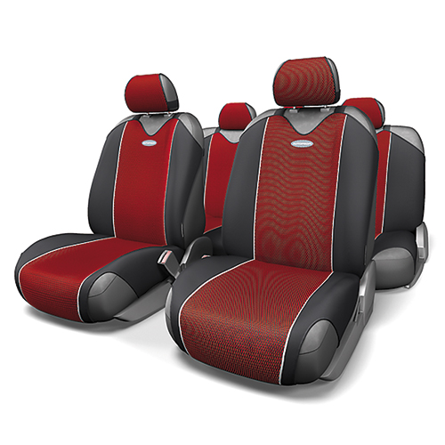 Чехлы-майки Autoprofi Carbon, полиэстер под карбон, цвет: красный, 9 предметов. CRB-802 RD98298130Autoprofi Carbon - наиболее респектабельная модель автомобильных чехлов-маек. Материал изделия повторяет переливающийся рисунок настоящего карбона и придает чехлам презентабельный и дорогой вид. Для автомобильного интерьера с карбоновыми элементами чехлы Carbon являются наиболее гармоничным дополнением. По форме чехлы напоминают майку. Благодаря этому они быстро и без усилий надеваются на кресла, не требуя демонтажа подголовников или подлокотников. Эластичный полиэстер изделий позволяет использовать их на любых типах сидений.Комплектация: - 1 сиденье заднего ряда, - 1 спинка заднего ряда, - 2 чехла переднего ряда, - 5 подголовников, - набор фиксирующих крючков.Особенности: Использование с любыми типами сиденийТолщина поролона - 2 ммПолиэстер с рисунком карбон