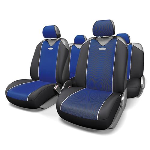 Чехлы-майки Autoprofi Carbon Plus, полиэстер под карбон, цвет: черный, синий, 9 предметов. CRB-902P BK/BLCA-3505Модель авточехлов-маек Autoprofi Carbon Plus, выполненных из полиэстера, отличается полностью закрытой нижней частью сидений, которая добавляет им практичности и износостойкости. При этом чехлы быстро и без усилий надеваются на кресла, не требуя демонтажа подголовников или подлокотников. Эластичный материал позволяет использовать чехлы на сиденьях любого типа. Визуально полиэстер изделий в точности повторяет переливающийся рисунок настоящего карбона и придает чехлам респектабельный вид. Для автомобиля, чей экстерьер или салон оснащены карбоновыми деталями, чехлы Autoprofi Carbon Plus являются наиболее гармоничным дополнением.Комплектация: - 1 сиденье заднего ряда, - 1 спинка заднего ряда, - 2 чехла переднего ряда, - 5 подголовников, - набор фиксирующих крючков.Особенности: Использование с любыми типами сиденийТолщина поролона - 2 ммПолиэстер с рисунком карбон