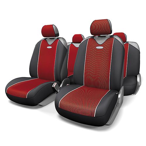 Чехлы-майки Autoprofi Carbon Plus, полиэстер под карбон, цвет: черный, красный, 9 предметов. CRB-902P BK/RD21395599Модель авточехлов-маек Autoprofi Carbon Plus, выполненных из полиэстера, отличается полностью закрытой нижней частью сидений, которая добавляет им практичности и износостойкости. При этом чехлы быстро и без усилий надеваются на кресла, не требуя демонтажа подголовников или подлокотников. Эластичный материал позволяет использовать чехлы на сиденьях любого типа. Визуально полиэстер изделий в точности повторяет переливающийся рисунок настоящего карбона и придает чехлам респектабельный вид. Для автомобиля, чей экстерьер или салон оснащены карбоновыми деталями, чехлы Autoprofi Carbon Plus являются наиболее гармоничным дополнением.Комплектация: - 1 сиденье заднего ряда, - 1 спинка заднего ряда, - 2 чехла переднего ряда, - 5 подголовников, - набор фиксирующих крючков.Особенности: Использование с любыми типами сиденийТолщина поролона - 2 ммПолиэстер с рисунком карбон