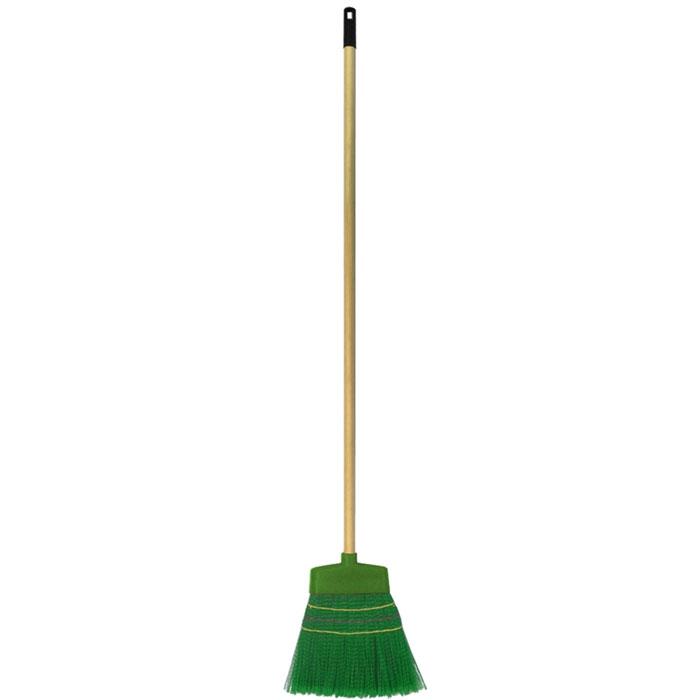 Метла Fratelli RE, с телескопической ручкой, цвет: зеленый, бежевый, 106-150 смES-412Метла Fratelli RE - очень важный инструмент, предназначенный для уборки улиц, дворов, производственных помещений, садовых и дачных участков. Метла снабжена жестким ворсом и прочной ручкой с петелькой для подвешивания. Оригинальная, современная, удобная метла сделает уборку эффективнее и приятнее.Длина ручки: 106-150 см.Размер рабочей части метлы: 32 см х 30 см х 2 см.