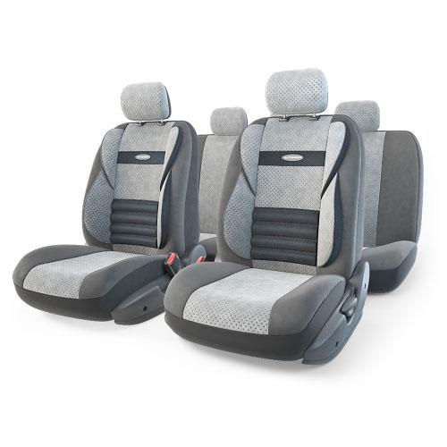 Набор ортопедических авточехлов Autoprofi Comfort Combo, велюр, цвет: темно-серый, светло-серый, 11 предметов. Размер M. CMB-1105 D.GY/L.GY (M)19200Ортопедические авточехлы Comfort Combo оснащены усиленной поддержкой плечевого пояса, которая способствует естественному положению спины при вождении. Объемные боковые вставки чехлов на уровне поясницы поддерживают туловище в поворотах, а рифленый поясничный профиль обеспечивает естественную осанку и снижает нагрузку с межпозвоночных дисков.Чехлы Comfort Combo выполнены из формованного велюра, который сочетает привлекательный внешний вид и хорошие дышащие свойства, позволяющие водителю и пассажирам чувствовать себя комфортно во время движения.Основные особенности авточехлов Comfort Combo:- боковая поддержка спины; - 3 молнии в спинке заднего ряда; - 3 молнии в сиденье заднего ряда; - карманы в спинках передних сидений; - крепление передних спинок липучками; - ортопедический поясничный упор; - поддержка плечевого пояса; - предустановленные крючки на широких резинках;- использование с боковыми airbag;- толщина поролона: 5 мм.Комплектация: - 1 сиденье заднего ряда; - 1 спинка заднего ряда; - 2 сиденья переднего ряда; - 2 спинки переднего ряда; - 5 подголовников; - набор фиксирующих крючков.