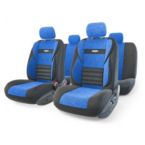 Набор ортопедических авточехлов Autoprofi Comfort Combo, велюр, цвет: черный, синий, 11 предметов. Размер M. CMB-1105 BK/BL (M)CMB-1105 ANTHRACITE (M)Ортопедические авточехлы Comfort Combo оснащены усиленной поддержкой плечевого пояса, которая способствует естественному положению спины при вождении. Объемные боковые вставки чехлов на уровне поясницы поддерживают туловище в поворотах, а рифленый поясничный профиль обеспечивает естественную осанку и снижает нагрузку с межпозвоночных дисков.Чехлы Comfort Combo выполнены из формованного велюра, который сочетает привлекательный внешний вид и хорошие дышащие свойства, позволяющие водителю и пассажирам чувствовать себя комфортно во время движения.Основные особенности авточехлов Comfort Combo:- боковая поддержка спины; - 3 молнии в спинке заднего ряда; - 3 молнии в сиденье заднего ряда; - карманы в спинках передних сидений; - крепление передних спинок липучками; - ортопедический поясничный упор; - поддержка плечевого пояса; - предустановленные крючки на широких резинках;- использование с боковыми airbag;- толщина поролона: 5 мм.Комплектация: - 1 сиденье заднего ряда; - 1 спинка заднего ряда; - 2 сиденья переднего ряда; - 2 спинки переднего ряда; - 5 подголовников; - набор фиксирующих крючков.