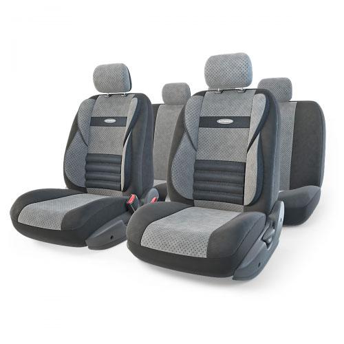 Набор ортопедических авточехлов Autoprofi Comfort Combo, велюр, цвет: черный, темно-серый, 11 предметов. Размер M. CMB-1105 BK/D.GY (M)ASC-BS-17Ортопедические авточехлы Comfort Combo оснащены усиленной поддержкой плечевого пояса, которая способствует естественному положению спины при вождении. Объемные боковые вставки чехлов на уровне поясницы поддерживают туловище в поворотах, а рифленый поясничный профиль обеспечивает естественную осанку и снижает нагрузку с межпозвоночных дисков.Чехлы Comfort Combo выполнены из формованного велюра, который сочетает привлекательный внешний вид и хорошие дышащие свойства, позволяющие водителю и пассажирам чувствовать себя комфортно во время движения.Основные особенности авточехлов Comfort Combo:- боковая поддержка спины; - 3 молнии в спинке заднего ряда; - 3 молнии в сиденье заднего ряда; - карманы в спинках передних сидений; - крепление передних спинок липучками; - ортопедический поясничный упор; - поддержка плечевого пояса; - предустановленные крючки на широких резинках;- толщина поролона: 5 мм.Комплектация: - 1 сиденье заднего ряда; - 1 спинка заднего ряда; - 2 сиденья переднего ряда; - 2 спинки переднего ряда; - 5 подголовников; - набор фиксирующих крючков.Размер спинки переднего ряда: 64 х 55 см.Размер сиденья переднего ряда: 51 х 58 см.Размер спинки заднего ряда: 72 х 140 см.Размер сиденья заднего ряда: 56 х 140 см.