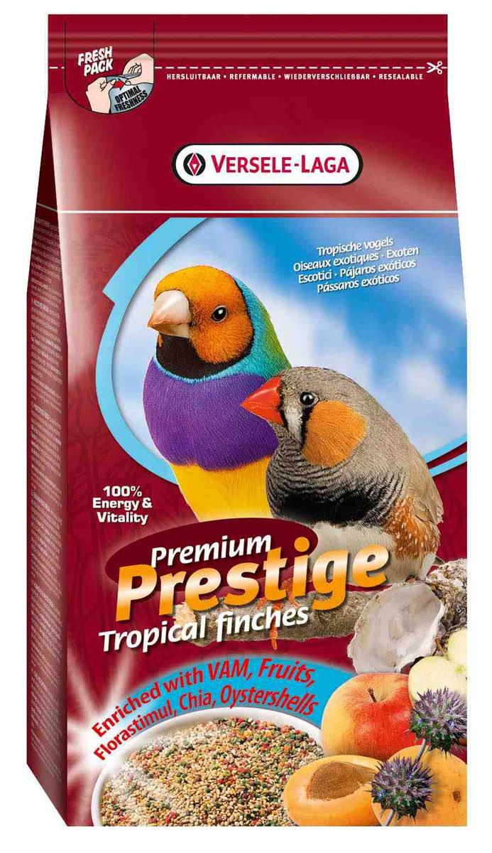 Корм для экзотических птиц Versele-Laga Tropical Finches Premium, 1 кг0120710Полнорационная смесь Versele-Laga Tropical Finches Premium для всех видов тропических птиц. Данная зерновая смесь сбалансирована и разнообразная по составу. Смесь дополнительно обогащена витаминами и минералами, что делает ее незаменимой для ежедневного кормления птиц. Состав: желтое просо паникум 48%, желтое просо 33%, канареечное семя 8,5%, красное просо паникум 6%,красное просо 3%,масличный нуг 1,5 %.Вес: 1 кг.Товар сертифицирован.