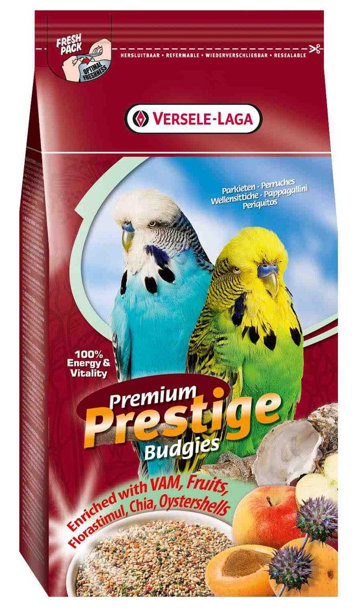 Корм для волнистых попугаев Versele-Laga Premium Prestige Budgie, 1 кг12227658Зерновая смесь премиум качества Versele-Laga Premium Prestige Budgie имеет разнообразный и сбалансированный состав, специально разработанный для волнистых попугайчиков. Корм содержит гранулы ВАМ и фруктовые гранулы, богатые витаминами, аминокислотами, минералами, флорастимул для оптимального пищеварения, семена чии как дополнительный источник омега-3 жирных кислот, а также измельченные раковины устриц для отличной работы мускулатуры желудка и правильного баланса кальция/фосфора.Versele-Laga поддерживает фонд Loro Parque Fundacion в стремлении сохранить вымирающие виды птиц и их среду обитания. Приобретая данную продукцию, вы помогаете фонду Loro Parque Fundacion защищать природу.Указания к использованию:В зависимости от вида и возраста птицы ежедневный рацион семян может сильно варьироваться. Поэтому сначала предложите птице большую порцию, и спустя некоторое время вы сможете точно определить ежедневный рацион. Обновляйте корм и давайте свежую воду вашему питомцу каждый день.Состав: семена (2% семян чиа), злаки, производные растительного происхождения, минералы (2% измельченных ракушек устриц), масла и жиры, фрукты, сахара, фрукто-олигосахариды.Анализ состава: белки 18%, жиры 13%, клетчатка 6%, зола 7%, кальций 1,1%, фосфор 0,5%, DL-метионин 950 мг/кг, L-лизин 250 мг/кг, витамин А8000 МЕ/кг, витамин D3 1600 МЕ/кг, витамин E 20 мг/кг, сульфат меди (II) 7 мг/кг.Вес: 1 кг. Товар сертифицирован.