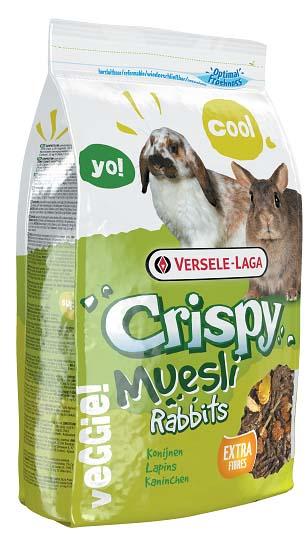 Корм для кроликов Versele-Laga Crispy Muesli Rabbits, 1 кг0120710Вкусный и богатый клетчаткой корм Versele-Laga Crispy Muesli Rabbits для карликовых и домашних кроликов - это полноценный корм с содержанием стебельков сена, хлопьев и овощей. Это смесь для настоящих гурманов! Благодаря содержанию гранул «Happy & Healthy» корм имеет все необходимые нутриенты для долгой и здоровой жизни вашего кролика. Богатый клетчаткой состав поддержит здоровье кишечника и зубов вашего зверька, а дополнительные овощи обеспечат прекрасный вкус корма.Суточная норма кормления: кроликам карликовых пород, а также молодым кроликам рекомендуется давать до 50 грамм корма в день. Кроликам средних размеров рекомендуется давать до 80 грамм корма в день. Необходимо сокращать количество основного корма при кормлении данным рационом (в общей сложности до 25%). Не забывайте давать питомцу необходимое количество сена. Животное должно иметь постоянный доступ к свежей чистой питьевой воде. Давайте корм только комнатной температуры. Корм следует хранить в сухом прохладном месте в упаковке производителя.Состав: субпродукты растительного происхождения, зерна, овощи (10%), минералы, семена.Анализ состава: протеин 16%, жир 3,5%, клетчатка 14%, зола 7%, кальций 1,1%, фосфор 0,55%.Добавки:витамин A 11000 МЕ, витамин D3 1100 МЕ, витамин E 78 мг, железо 97 мг, йод 2 мг, медь 10 мг, марганец 73 мг, цинк 70 мг, селен 0,19 мг, антиоксиданты, красители. Вес: 1 кг. Товар сертифицирован.