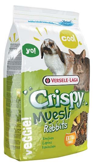 Корм для кроликов Versele-Laga Crispy Muesli Rabbits, 2,75 кг24Вкусный и богатый клетчаткой корм Versele-Laga Crispy Muesli Rabbits для карликовых и домашних кроликов - это полноценный корм с содержанием стебельков сена, хлопьев и овощей. Это смесь для настоящих гурманов! Благодаря содержанию гранул «Happy & Healthy» корм имеет все необходимые нутриенты для долгой и здоровой жизни вашего кролика. Богатый клетчаткой состав поддержит здоровье кишечника и зубов вашего зверька, а дополнительные овощи обеспечат прекрасный вкус корма.Суточная норма кормления: кроликам карликовых пород, а также молодым кроликам рекомендуется давать до 50 грамм корма в день. Кроликам средних размеров рекомендуется давать до 80 грамм корма в день. Необходимо сокращать количество основного корма при кормлении данным рационом (в общей сложности до 25%). Не забывайте давать питомцу необходимое количество сена. Животное должно иметь постоянный доступ к свежей чистой питьевой воде. Давайте корм только комнатной температуры. Корм следует хранить в сухом прохладном месте в упаковке производителя.Состав: субпродукты растительного происхождения, зерна, овощи (10%), минералы, семена.Анализ состава: протеин 16%, жир 3,5%, клетчатка 14%, зола 7%, кальций 1,1%, фосфор 0,55%.Добавки:витамин A 11000 МЕ, витамин D3 1100 МЕ, витамин E 78 мг, железо 97 мг, йод 2 мг, медь 10 мг, марганец 73 мг, цинк 70 мг, селен 0,19 мг, антиоксиданты, красители. Вес: 2,75 кг. Товар сертифицирован.