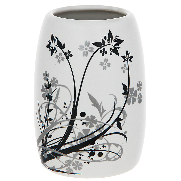 Стаканчик для ванной комнаты Duschy AsterBL505Стаканчик Duschy Aster выполнен из керамики молочного цвета, украшен растительным рисунком черного и серого цвета. Стаканчик отличается легкостью и компактностью, при этом он устойчив. Такой стаканчик прекрасно подойдет для зубных щеток, пасты, расчесок и станет достойным дополнением интерьера ванной комнаты. Характеристики:Материал: керамика. Цвет: молочный. Размер стаканчика: 10 см х 7 см х 7 см. Размер упаковки: 11,5 см х 8,5 см х 8,5 см. Артикул: 354-01.