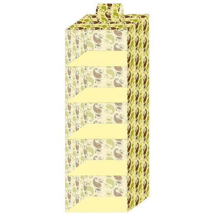 Кофр подвесной стандартный Фэйт, 5 ячеек, 30 х 30 х 100 см09840-20.000.00Подвесной кофр Фэйт выполнен из картона, обтянутого вискозной тканью с фирменным орнаментом. Материал позволяет пропускать внутрь воздух, но не пропускает пыль, грязь и насекомых. 5 вместительных ячеек позволяют компактно хранить одежду, домашнюю обувь, шарфики, перчатки, зонты, шапки. В сложенном виде кофр не занимает много места. Характеристики: Материал: вискоза, картон. Размер кофра: 30 см х 30 см х 100 см. Цвет: желтый. Размер упаковки: 32 см х 32 см х 2 см. Артикул: 69329.