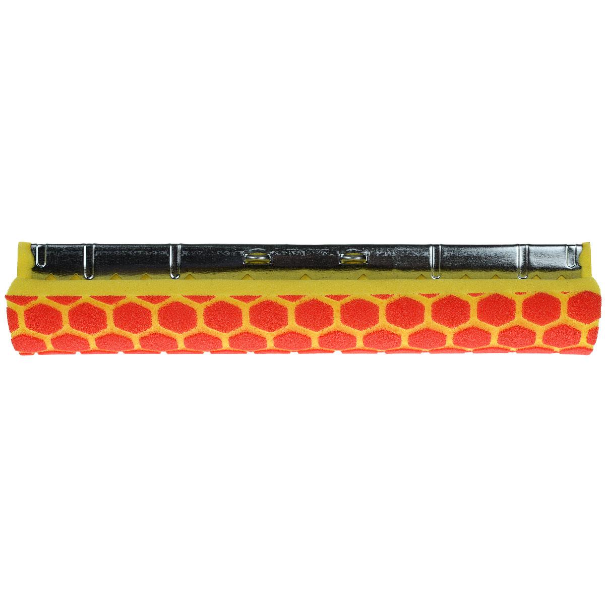 Губка сменная Libman Nitty Gritty, длина 30 см14270471Сменная губка Libman Nitty Gritty для роликовой швабры выполнена из износоустойчивого полиэстера с объемным рисунком соты для лучшего удержания загрязнений. Губка присоединена к надежному металлическому креплению для швабры. С губкой Libman Nitty Gritty уборка станет эффективнее и приятнее. Характеристики:Материал: полиэстер, металл. Цвет: желтый, красный. Длина губки: 30 см. Ширина губки: 8 см. Размер упаковки: 30 см x 8 см x 6 см. Артикул:00956.