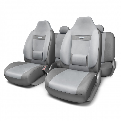 Набор ортопедических авточехлов Autoprofi Comfort, для кресел с литыми подголовниками, велюр, цвет: темно-серый, светло-серый, 11 предметов. Размер M54 009318Анатомическое авточехлы Comfort спроектированы специально для автомобильных кресел с литыми подголовниками. Встроенный поясничный упор и боковая поддержка спины чехлов придают передним креслам автомобиля эргономичную форму, за счет чего посадка водителя и пассажира становится более естественной и удобной. В качестве внешнего материала в чехлах Comfort используется жаропрочный велюр, который не электризуется и не выцветает на солнце. Основные особенности авточехлов Comfort:- боковая поддержка спины; - 3 молнии в спинке заднего ряда; - боковая поддержка спины; - карманы в спинках передних сидений; - крепление передних спинок липучками; - литые подголовники; - поясничный упор; - предустановленные крючки на широких резинках;- использование с боковыми airbag;- толщина поролона: 5 мм.Комплектация: - 1 сиденье заднего ряда; - 1 спинка заднего ряда; - 2 сиденья переднего ряда; - 2 спинки переднего ряда; - 3 подголовника; - набор фиксирующих крючков.
