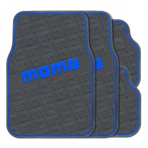 Коврики автомобильные MOMO Commando, эластичный ПВХ, цвет: черный, синий, 4 предметаNLC.07.04.B10Практичные коврики MOMO Commando изготовлены из эластичного ПВХ, который характеризуется небольшим весом, высокой износостойкостью и устойчивостью к воздействию агрессивных веществ, таких как масло, топливо или дорожные реагенты. Рельефные выступы на внешней стороне изделий, сделанные в виде логотипов MOMO, не позволяют ногам скользить по поверхности ковриков. Коврики обладают универсальной формой, позволяющей использовать их на большинстве современных моделей. Красочные надписи и стильная линия по контуру ковриков, выполненные в нескольких цветах, помогают подобрать комплект к различному оформлению салона и придать интерьеру энергичные и запоминающиеся черты. Характеристики: Материал: ПВХ. Цвет: черный, синий. Комплектация: 4 шт. Размер переднего коврика: 66 см х 44 см. Размер заднего коврика: 33 см х 44 см. Артикул: MOMO-502 BK/BL.