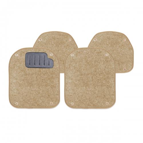Вкладыши ковролиновые Autoprofi для автомобильных ковриков, цвет: бежевый, 4 шт21395599Комплект Autoprofi состоит из 2 вкладышей в автомобильные коврики переднего ряда и 2 вкладышей в автомобильные коврики заднего ряда. Вкладыши изготовлены из уютного и износостойкого ковролина. Они легко пристегиваются и снимаются. Надежное крепление гарантируют четыре металлические кнопки. Имеется опора для ног водителя из термопласта, которая обеспечивает комфортное управление автомобилем. Вкладыши устойчивы к влаге, грязи и УФ-лучам. Характеристики: Материал: ковролин, термопласт. Цвет: бежевый. Размер вкладыша для ковриков переднего ряда: 4 см х 4,8 см. Размер вкладыша для ковриков заднего ряда: 4 см х 3,6 см. Артикул: PET-500i BE.