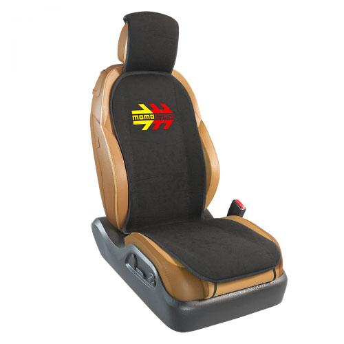 Накидка на переднее сиденье Momo Momo Corse, полиэстер, цвет: черный. MOMO-104 BKCA-3505Накидка на переднее сиденье Momo Momo Corse изготовлена из высококачественного морозостойкого полиэстера и надежно защищает кресла от грязи и изнашивания. Благодаря универсальному крою накидку можно использовать на передних сиденьях большинства автомобилей, в том числе оснащенных боковыми подушками безопасности. Установка не занимает много времени - накидка крепится с помощью эластичных резинок и закрывает не только спинку и сиденье, но и подголовник кресла. Имеется возможность использования с любыми типами сидений.Яркий и оригинальный дизайн изделия придает салону автомобиля динамичные и запоминающиеся черты.