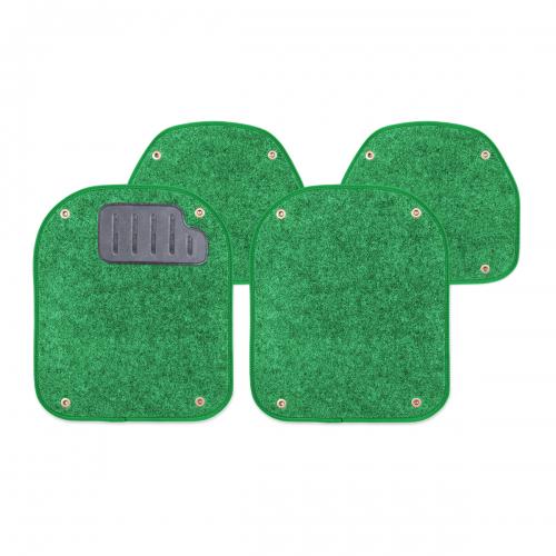 Вкладыши ковролиновые Autoprofi для автомобильных ковриков, цвет: зеленый, 4 штВетерок 2ГФКомплект Autoprofi состоит из 2 вкладышей в автомобильные коврики переднего ряда и 2 вкладышей в автомобильные коврики заднего ряда. Вкладыши изготовлены из уютного и износостойкого ковролина. Они легко пристегиваются и снимаются. Надежное крепление гарантируют четыре металлические кнопки. Имеется опора для ног водителя из термопласта, которая обеспечивает комфортное управление автомобилем. Вкладыши устойчивы к влаге, грязи и УФ-лучам. Характеристики: Материал: ковролин, термопласт. Цвет: зеленый. Размер вкладыша для ковриков переднего ряда: 40 см х 47 см. Размер вкладыша для ковриков заднего ряда: 40 см х 35 см. Артикул: PET-500i GR.