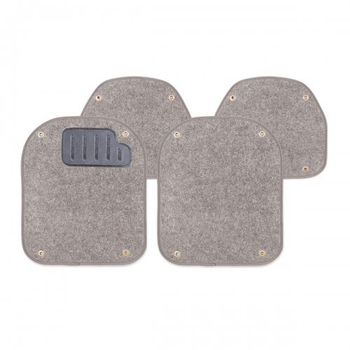 Вкладыши ковролиновые Autoprofi для автомобильных ковриков, цвет: серый, 4 шт