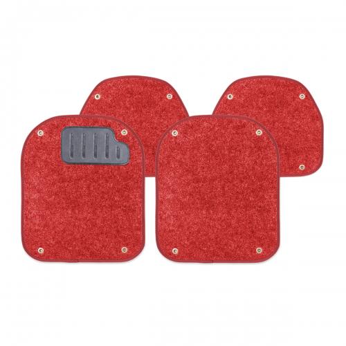 Вкладыши ковролиновые Autoprofi для автомобильных ковриков, цвет: красный, 4 штВетерок 2ГФКомплект Autoprofi состоит из 2 вкладышей в автомобильные коврики переднего ряда и 2 вкладышей в автомобильные коврики заднего ряда. Вкладыши изготовлены из уютного и износостойкого ковролина. Они легко пристегиваются и снимаются. Надежное крепление гарантируют четыре металлические кнопки. Имеется опора для ног водителя из термопласта, которая обеспечивает комфортное управление автомобилем. Вкладыши устойчивы к влаге, грязи и УФ-лучам. Характеристики: Материал: ковролин, термопласт. Цвет: красный. Размер вкладыша для ковриков переднего ряда: 4 см х 4,8 см. Размер вкладыша для ковриков заднего ряда: 4 см х 3,6 см. Артикул: PET-500i RD.