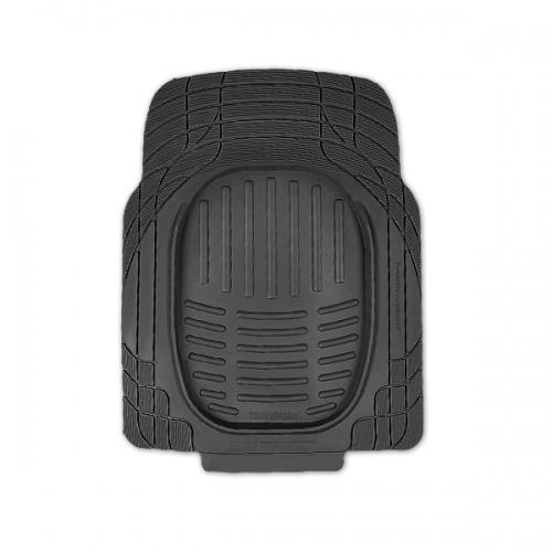 Коврики автомобильные Автопрофи / Autoprofi Transform, цвет: черный, 2 штWH18DSDLКомплект универсальных ковриков для переднего ряда Автопрофи / Autoprofi Transform с лаконичным, но в то же время функциональным дизайном. Наличие множества насечек на поверхности ковриков позволяет с помощью ножниц корректировать размер и форму изделий, адаптируя их под салон автомобиля. Коврики изготовлены из термопласта-эластомера, сохраняющего эластичность даже при экстремально низких температурах - до -50 °С. Легкий и износостойкий материал устойчив к воздействию агрессивных веществ, таких как масло, топливо или дорожные реагенты, и не обладает характерным запахом резины. Характеристики:Материал чехла: термопласт-эластомер. Комплектация: 2 шт. Температура использования: от -50 до +50 °С. Размер 1 коврика: 770 мм х 570 мм. Артикул: TER-001 BK.