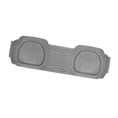 Коврик автомобильный Автопрофи / Autoprofi Transform, термопласт, цвет: серый, 51 см х 166 смVT-1520(SR)Универсальный сдвоенный коврик для заднего ряда Автопрофи / Autoprofi Transform отличается лаконичным, но в то же время функциональным дизайном. Наличие множества насечек на поверхности коврика позволяет с помощью ножниц корректировать размер и форму изделия, адаптируя его под салон автомобиля. Коврик изготовлен из термопласта-эластомера, сохраняющего эластичность даже при экстремально низких температурах - до -50 °С. Легкий и износостойкий материал устойчив к воздействию агрессивных веществ, таких как масло, топливо или дорожные реагенты, и не обладает характерным запахом резины. Характеристики:Материал: термопласт-эластомер. Размер коврика: 510 мм х 1660 мм. Температура использования: от -50 до +50 °С. Артикул: TER-003 GY.
