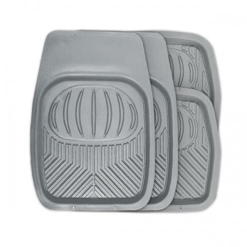 Коврики автомобильные Autoprofi Polar, универсальные, цвет: серый, 4 предметакн14,4сУниверсальные автомобильные коврики Autoprofi Polar изготовлены из термопласта-эластомера, который отличается небольшим весом, отсутствием характерного для резины запаха и высокой износостойкостью. Инновационный материал сохраняет свою эластичность даже при экстремально низких температурах до -50°С и устойчив к воздействию агрессивных веществ, таких как масло, топливо или дорожные реагенты. На передних ковриках имеются специальные насечки для разреза, которые позволяют придать им форму, соответствующую выемкам днища автомобиля. Благодаря этому они плотно прилегают к полу, защищая его от грязи и влаги. Высокие фрикционные свойства материала ковриков не дают им скользить по салону и под ногами водителя и пассажира. Характеристики: Материал: термопласт-эластомер. Цвет: серый. Комплектация: 4 шт. Температура использования: от -50°С до +50°С. Размер переднего коврика: 69 см х 48 см. Размер заднего коврика: 48 см х 48 см. Размер упаковки: 5 см х 69 см х 48 см. Артикул: TER-105 GY.