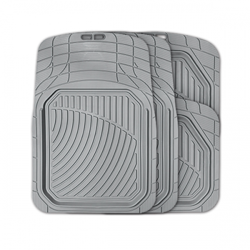 Коврики автомобильные Autoprofi Defender, универсальные, морозостойкие, цвет: серый, 4 предметаWT-CD37Коврики Autoprofi Defender изготовлены из термопласта-эластомера, который характеризуется небольшим весом, отсутствием типичного для резины запаха и высокой износостойкостью. Данный материал сохраняет свою эластичность даже при экстремально низких температурах до -50°С и устойчив воздействию агрессивных веществ, таких как масло, топливо или дорожные реагенты. Специальный рисунок ковриков позволяет использовать их в большинстве современных легковых автомобилей. Разветвленная сеть насечек для разреза на поверхности помогает придать коврикам форму, точно соответствующую днищу салона. Благодаря этому и высоким фрикционным качествам материала коврики не скользят под ногами и плотно лежат на поверхности пола, защищая его от грязи и влаги. Характеристики: Материал: термопласт-эластомер. Цвет: серый. Комплектация: 4 шт. Температура использования ковриков: от -50°С до +50°С. Размер переднего коврика: 74 см х 52 см. Размер заднего коврика: 45,5 см х 51,5 см. Артикул: TER-515 GY.