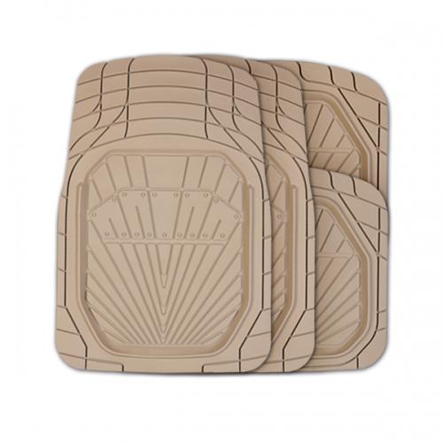 Коврики автомобильные Autoprofi Power, универсальные, вырезаемые, цвет: бежевый, 4 предмета98298123_черныйУниверсальные автомобильные коврики Autoprofi Power изготовлены из термопласта-эластомера с высокими фрикционными качествами, благодаря чему изделия не скользят под ногами и плотно лежат на поверхности пола, защищая его от грязи и влаги. Термопласт-эластомер отличается небольшим весом, отсутствием характерного для резины запаха и высокой износостойкостью. Материал сохраняет свою эластичность даже при экстремально низких температурах до -50°С и устойчив к воздействию агрессивных веществ, таких как масло, топливо или дорожные реагенты. Комплект ковриков можно использовать в большинстве современных легковых автомобилей. Широкая универсальность обусловлена специальным рисунком ковриков-трансформов. На их поверхности имеется разветвленная сеть насечек для разреза, которая позволяет придать коврикам форму, точно соответствующую днищу салона. Характеристики: Материал: термопласт-эластомер. Цвет: бежевый. Комплектация: 4 шт. Температура использования: от -50°С до +50°С. Размер переднего коврика: 79 см х 51,5 см. Размер заднего коврика: 47 см х 50 см. Размер упаковки: 45 см х 5 см х 46 см. Артикул: TER-510 BE.