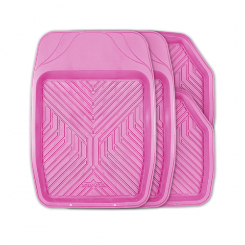 Коврики автомобильные Autoprofi Groove, универсальные, цвет: розовый, 4 предметаFS-80423Универсальные автомобильные коврики Autoprofi Groove изготовлены из термопласта-эластомера, который отличается небольшим весом, отсутствием характерного для резины запаха и высокой износостойкостью. Инновационный материал сохраняет свою эластичность даже при экстремально низких температурах до -50°С и устойчив к воздействию агрессивных веществ, таких как масло, топливо или дорожные реагенты. Насечки для разреза на передних ковриках позволяют придать им различную форму и подогнать под нужный профиль днища, надежно изолировав его от грязи и влаги. Высокие фрикционные свойства материала ковриков не дают им скользить по салону и под ногами водителя и пассажира. Характеристики: Материал: термопласт-эластомер. Цвет: розовый. Комплектация: 4 шт. Температура использования: от -50°С до +50°С. Размер переднего коврика: 69 см х 48 см. Размер заднего коврика: 48 см х 48 см. Размер упаковки: 5 см х 69 см х 48 см. Артикул: TER-150 PINK.