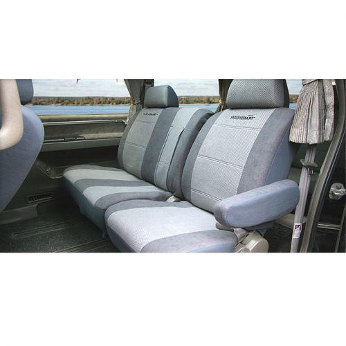 Авточехлы Autoprofi Transform, на кресло, диван и 2 подлокотника, 9 предметовMPV-002 D.GY/L.GYАвточехлы Autoprofi Transform разработаны специально для микроавтобусов, минивэнов и внедорожников. Данная серия чехлов включает 6 моделей различной комплектации, которые учитывают любые варианты расположения кресел в салоне. Благодаря этому и раздельной схеме надевания чехлами можно оснастить как пяти-, так и семи- или восьмиместный автомобиль.Серия Transform изготавливается из износостойкого перфорированного велюра, придающего интерьеру автомобиля уютный и ухоженный вид. При необходимости чехлы легко снимаются и быстро сохнут после стирки.Комплектация:- 1 одинарная спинка,- 1 одинарное сиденье,- 1 полуторная спинка,- 1 полуторное сиденье,- 2 подлокотника,- 3 подголовника,- набор фиксирующих крючков.Особенности: - предустановленные крючки на широких резинках,- толщина поролона: 5 мм.