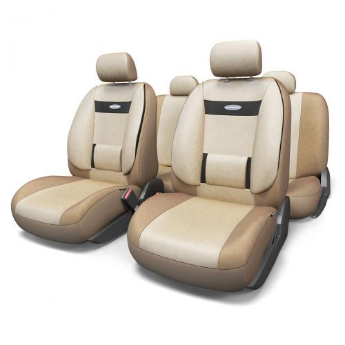 Набор ортопедических авточехлов Autoprofi Comfort, велюр, цвет: темно-бежевый, светло-бежевый, 11 предметов. Размер M. COM-1105 D.BE/L.BE (M)21395599Эргономичные авточехлы Comfort обладают анатомической формой с объемной боковой поддержкой спины и поясничным упором, которые обеспечивают наиболее удобную осанку водителя и переднего пассажира, снижая усталость от многочасовых поездок. В качестве внешнего материала в чехлах Comfort используется жаропрочный велюр, который не электризуется и не выцветает на солнце. Широкая гамма расцветок чехлов позволяет подобрать их практически к любому оформлению салона автомобиля.Основные особенности авточехлов Comfort:- боковая поддержка спины; - 3 молнии в спинке заднего ряда; - 3 молнии в сиденье заднего ряда; - карманы в спинках передних сидений; - поясничный упор; - использование с боковыми airbag; - толщина поролона: 5 мм;- предустановленные крючки на широких резинках. Комплектация: - 1 сиденье заднего ряда; - 1 спинка заднего ряда; - 2 сиденья переднего ряда; - 2 спинки переднего ряда; - 5 подголовников; - набор фиксирующих крючков.В чехлах для заднего ряда этой серии вшиты 3 молнии в спинку и 3 молнии в сиденье. Это позволяет владельцам автомобилей с модульными задними сиденьями складывать и разделять их, не снимая чехлы. Молнии соответствуют пропорциям 40:60, 50:50, 60:40.