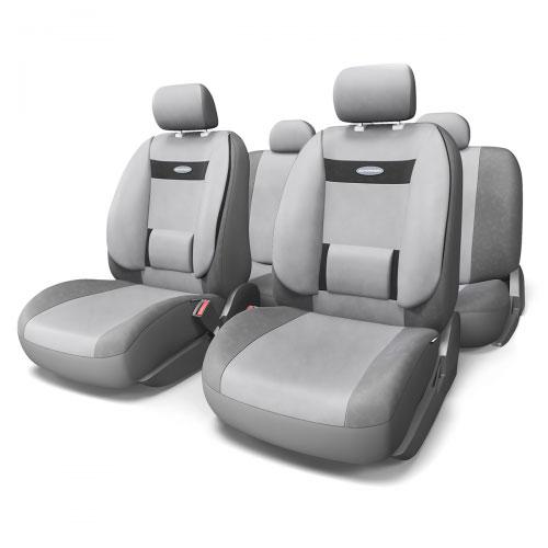 Набор ортопедических авточехлов Autoprofi Comfort, велюр, цвет: темно-серый, светло-серый, 11 предметов. Размер M. COM-1105 D.GY/L.GY (M)80-2633Эргономичные авточехлы Comfort обладают анатомической формой с объемной боковой поддержкой спины и поясничным упором, которые обеспечивают наиболее удобную осанку водителя и переднего пассажира, снижая усталость от многочасовых поездок. В качестве внешнего материала в чехлах Comfort используется жаропрочный велюр, который не электризуется и не выцветает на солнце. Широкая гамма расцветок чехлов позволяет подобрать их практически к любому оформлению салона автомобиля.Основные особенности авточехлов Comfort:- боковая поддержка спины; - 3 молнии в спинке заднего ряда; - 3 молнии в сиденье заднего ряда; - карманы в спинках передних сидений; - поясничный упор; - использование с боковыми airbag; - толщина поролона: 5 мм;- предустановленные крючки на широких резинках. Комплектация: - 1 сиденье заднего ряда; - 1 спинка заднего ряда; - 2 сиденья переднего ряда; - 2 спинки переднего ряда; - 5 подголовников; - набор фиксирующих крючков.