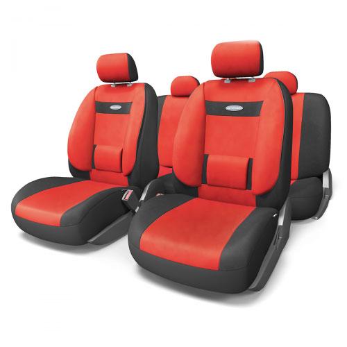 Набор ортопедических авточехлов Autoprofi Comfort, велюр, цвет: черный, красный, 11 предметов. Размер M. COM-1105 BK/RD (M)COM-1105 BK/D.GY (M)Эргономичные авточехлы Comfort обладают анатомической формой с объемной боковой поддержкой спины и поясничным упором, которые обеспечивают наиболее удобную осанку водителя и переднего пассажира, снижая усталость от многочасовых поездок. В качестве внешнего материала в чехлах Comfort используется жаропрочный велюр, который не электризуется и не выцветает на солнце. Широкая гамма расцветок чехлов позволяет подобрать их практически к любому оформлению салона автомобиля.Основные особенности авточехлов Comfort:- боковая поддержка спины; - 3 молнии в спинке заднего ряда; - 3 молнии в сиденье заднего ряда; - карманы в спинках передних сидений; - поясничный упор; - использование с боковыми airbag; - толщина поролона: 5 мм;- предустановленные крючки на широких резинках. Комплектация: - 1 сиденье заднего ряда; - 1 спинка заднего ряда; - 2 сиденья переднего ряда; - 2 спинки переднего ряда; - 5 подголовников; - набор фиксирующих крючков.