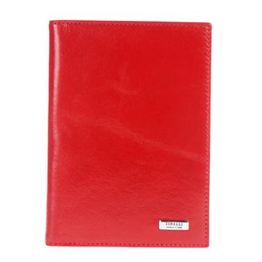 Бумажник водителя Tirelli Классик, цвет: красный. 15-302-06Дива 007Бумажник водителя Tirelli Классик изготовлен из натуральной кожи красного цвета с матовой текстурой. Внутри содержится съемный блок из 6 прозрачных пластиковых файлов разного размера для автодокументов. Стильный бумажник не только защитит ваши документы, но и станет стильным аксессуаром, подчеркивающим ваш образ. Изделие упаковано в подарочную коробку синего цвета с логотипом фирмы Tirelli. Характеристики:Материал: натуральная кожа, пластик. Цвет: красный. Размер бумажника: 10 см х 13,7 см х 1 см. Размер упаковки: 15,5 см х 11,5 см х 2,5 см. Артикул: 15-302-06.