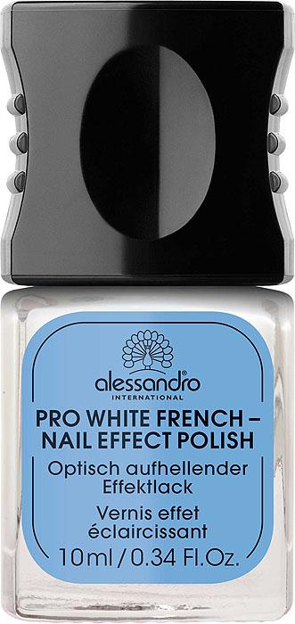 Alessandro Отбеливающий лак для ногтей Pro White French - Nail Effect Polish, французский маникюр, 10 мл alessandro отбеливающий лак для ногтей pro white glitter nail effect polish сверкающий 10 мл