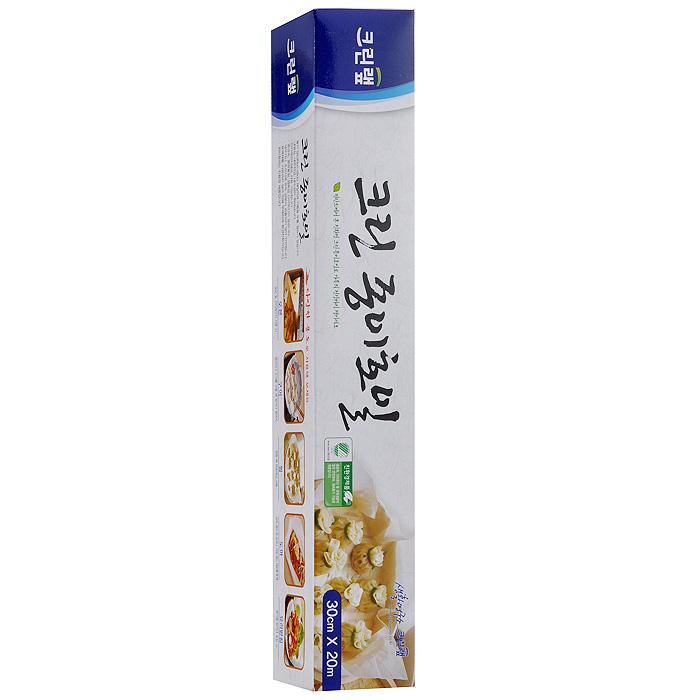 Бумага для запекания Clean Wrap Clean Paper Foil, 30 cм х 20 м115510Бумага для запекания Clean Wrap Clean Paper Foil имеет двустороннее силиконовое (кремниевое) покрытие бумаги, что делает ее не липкой, жаростойкой, жиростойкой и водостойкой. Жар при приготовлении пищи проходит в обоих направлениях. Безопасный продукт, свободный от токсичных материалов, таких как тяжелые металлы и диоксин. Безопасен для окружающей среды, т.к. полностью перерабатывается микроорганизмами. Безопасен при использовании в СВЧ. Способы применения: - для приготовления пищи в электрических и СВЧ печах, - при жарки (запекании) используется в виде подкладки или путем заворачивания продуктов, - при приготовлении пищи на пару используется вместо хлопковой ткани, - при разделывании продуктов, в том числе, когда продукты сильно пахнут или могут окрасить разделочную доску, - для упаковки продуктов. Характеристики: Материал: бумага. Ширина бумаги: 30 см. Длина рулона: 20 м. Размер упаковки: 5 см х 31 см х 5 см. Артикул: 54511.
