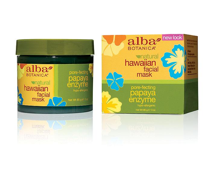 Alba Botanica Энзимная маска с ферментами папайи, 85 г72523WDГелевая маска Alba Botanica подходит для всех типов кожи. Идеально подобранные растительные масла и экстракты, не нарушая рН баланса, не разрушая клеточные мембраны, растворяют сухой обезвоженный слой ороговевших клеток, повышая регенерацию кожи. Маска увлажняет, омолаживает, придает эластичность и сияние стрессовой коже. Способ применения: 1-2 раза в неделю наносить на сухую, чистую кожу плотным слоем на 5-7мин. Наносить на всю кожу лица кроме области губ и глаз. Характеристики:Вес: 85 г. Артикул: AL00810. Производитель: США. Товар сертифицирован.Состав: вода, сок алое вера, глицерин,альгин,экстракт папайи, полисорбат 20, экстракт ананаса, экстракт ванили, экстракт имбиря, пантенол, ксантовая камедь, бензил алкохол, феноксиэтанол, лимонене, хлорофилл-медный комплекс.