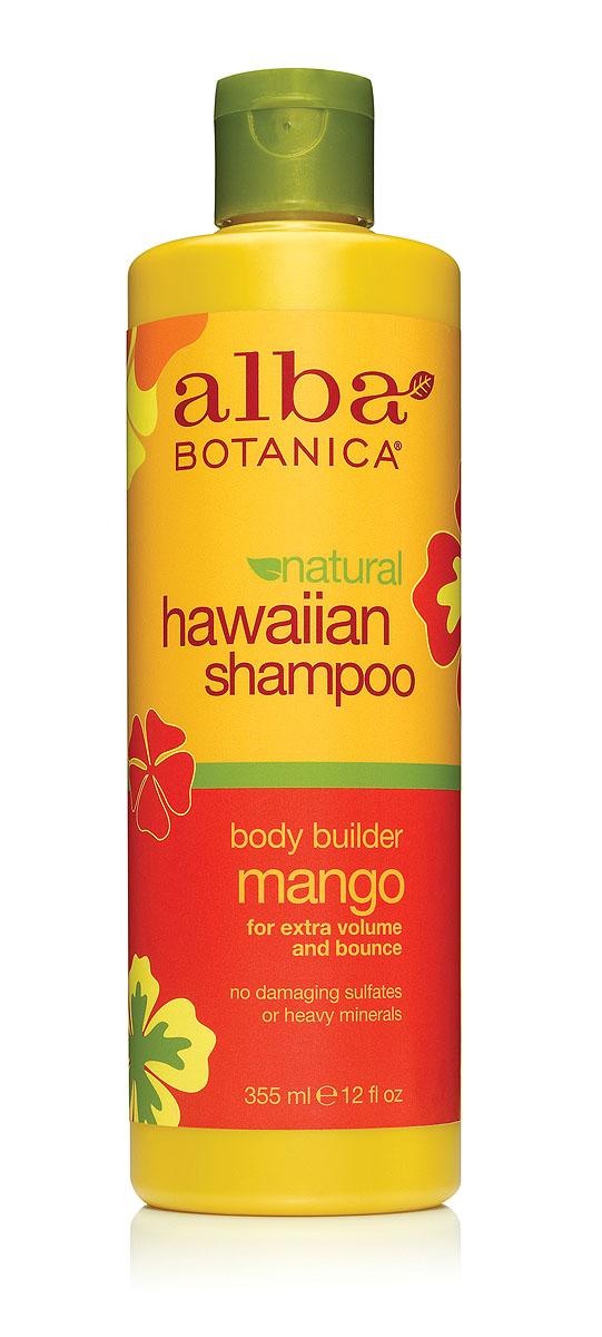 Alba Botanica Гавайский шампунь Body Builder Mango, с манго, 355 млAL00851Шампунь Alba Botanica, улучшающий объем и эластичность волос, имеет приятный аромат манго, хорошо смягчает кожу головы и предотвращает раздражения. Содержит экстракты и масла тропических растений, которые восстанавливают защитный водно-липидный барьер кожи и кератиновый слой волос. Благодаря специальному растительному комплексу снимает раздражение кожи головы, обеспечивая длительный комфорт и свежесть. Характеристики:Объем: 355 мл. Артикул: AL00851. Производитель: США. Товар сертифицирован.Состав: вода, кокомидопропилбетаин, гидроксипропилсульфонат натрий, лаурил глюкозид, масла семян лакового дерева (кукуи), масло макадамия, сок алое вера, экстракт ананаса, экстракт папайи, экстракт ламинарии, экстракт манго, экстракт имбиря, аскорбиновая кислота, масло бабасу, полиглицерил-4, лимонная кислота, глицерин, гликопротеины, гуар гидроксипропилтримониум хлорид, гидролизированные протеины сои, гидролизат миндального масла с тмином, линолевая кислота, линоленова кислота, пантенол, ретинол пальмитат, натрия хлорид, натрия цитрат, натрия коко-сульфат, натрия лаурилглюкозид, натрия сульфат, потасиум сорбат, натрия бензоат, лимонене.
