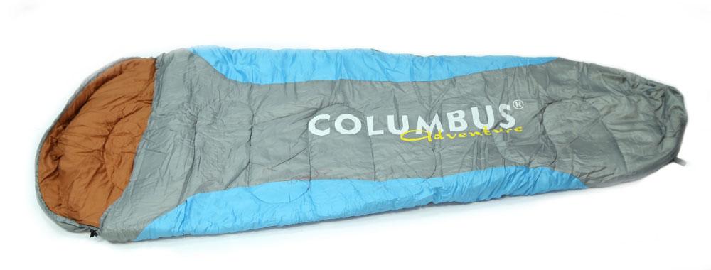 Спальный мешок-кокон Columbus 300, цвет: голубой, серыйУТ-000048671Спальный мешок Columbus 300 - незаменимая вещь для любителей уюта и комфорта во время активного отдыха. Конструкция данного спального мешка - это так называемый кокон с подголовником. Подкаладка мешка выполнена из смесовой ткани -это ткань, состоящая из натуральных и искусственных волокон или нитей, смешанных в различных пропорциях.Этот теплый спальный мешок спасет вас от холода во время туристического похода, поездки на рыбалку даже в межсезонье и зимой. Характеристики: Размер: 220 см х 90 см х 60 см. Материал: полиэстер, Ripstop 190 T. Подкладка: t/c (смесовая ткань). Наполнитель: холлофайбер. T comfort: +5°С. T extreme: -5°С. Вес: 1,76 кг.Артикул:2789. Производитель: Финляндия.