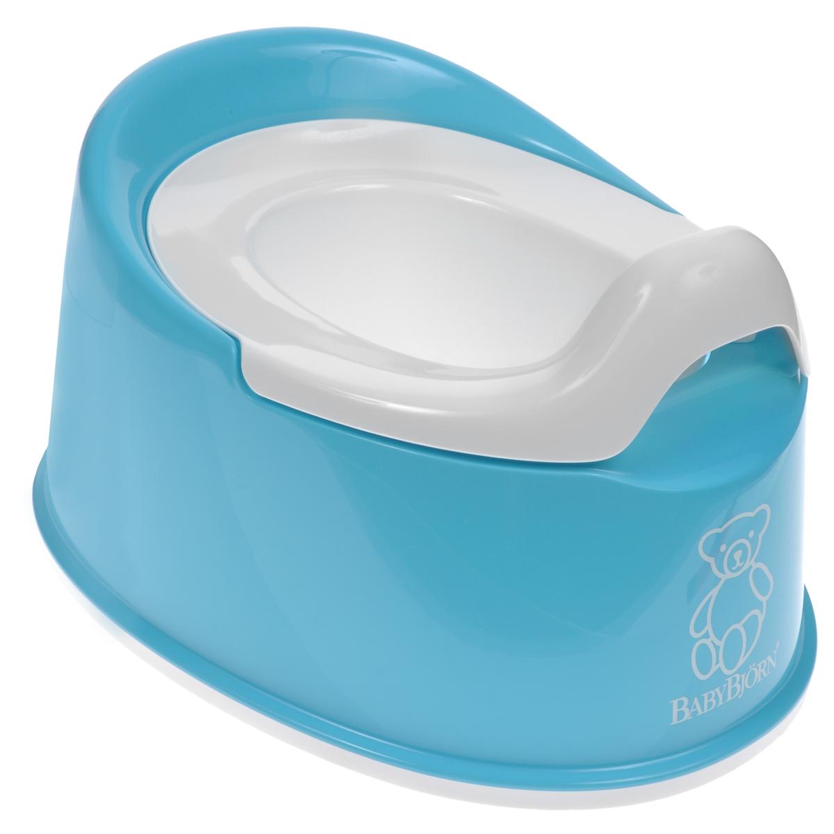"""Детский туалетный горшок BabyBjorn """"Smart"""" представляет собой превосходное сочетание функциональности и продуманного дизайна. Несмотря на маленькие размеры, он устойчив, его легко содержать в чистоте, и поэтому он идеально подходит даже для небольшого помещения. Он занимает мало места и его легко брать с собой. Кроме того, благодаря эргономичному дизайну и мягким контурам, ребенку приятно и удобно им пользоваться. Внутренняя часть горшка легко вынимается и моется отдельно. Горшок выполнен из пластика, поддающегося утилизации и не содержащего ПВХ. Устойчиво стоит на месте благодаря резиновым планкам. Рекомендуемый возраст: от 6 месяцев до 4 лет."""