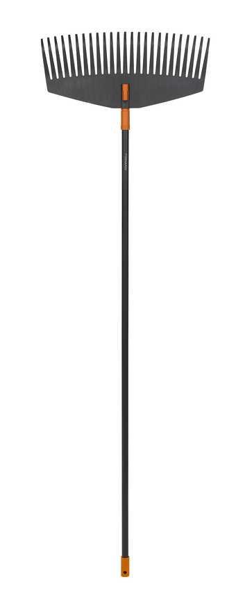 Грабли для листьев большие Fiskars, ширина 52 см(код135014 + код135001)77119Грабли Fiskars предназначены для уборки больших ровных поверхностей. Отлично подойдут для лужаек и дорожек. Благодаря дизайну зубьев листва не застревает между ними. Можно подвешивать для удобства хранения. Характеристики: Материал: металл, пластик. Длина граблей: 1,71 м. Ширина граблей: 52 см. Размер упаковки: 171 см х 52 см х 4 см.