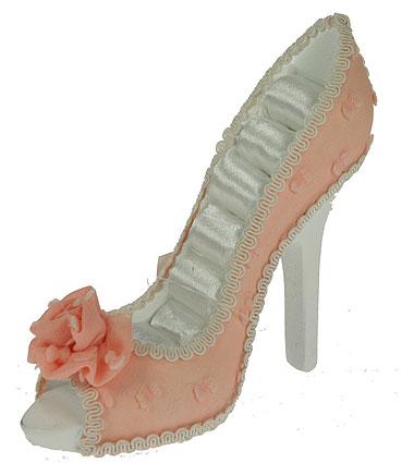 Подставка для колец Туфелька, цвет: розовый, белый. 124733 подставка для колец такса