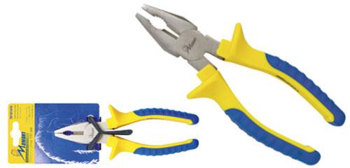Плоскогубцы Мамонт, 160 мм37-022Плоскогубцы Мамонт изготовлены из высокопрочной инструментальной стали со специальным покрытием, что придает высокую прочность всей конструкции инструмента. Рукоятки выполнены из двухкомпонентного изолирующего материала, что обеспечивает комфортный хват и меньшую усталость рук. Характеристики: Материал: сталь, пластик, резина. Длина плоскогубцев: 16 см. Размер упаковки: 22 см х 7 см х 2 см.