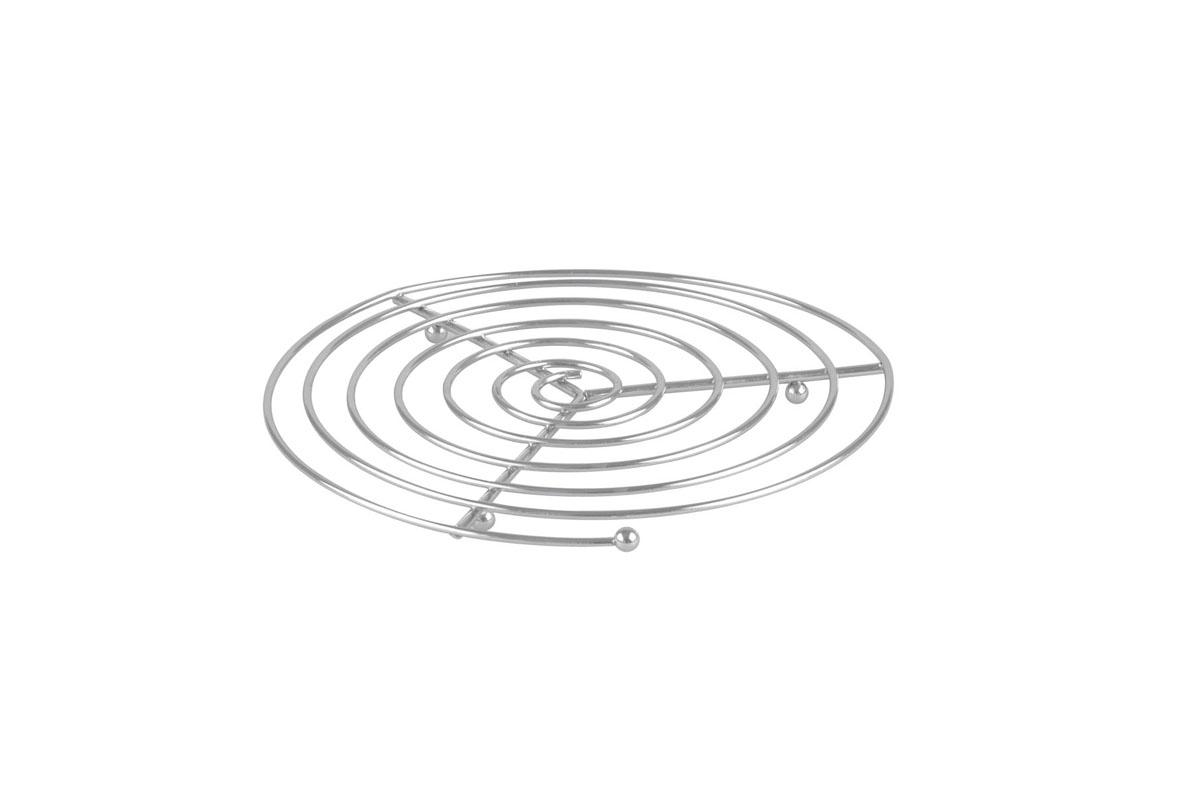 Подставка под горячее Bekker, диаметр 21 см. BK-3060115510Круглая подставка под горячее Bekker изготовлена из нержавеющей стали в виде спирали. Изделие предназначено для защиты поверхности стола от высоких температур.Характеристики:Материал: нержавеющая сталь. Диаметр: 21 см. Производитель: Германия. Изготовитель: Китай. Артикул: BK-3060.