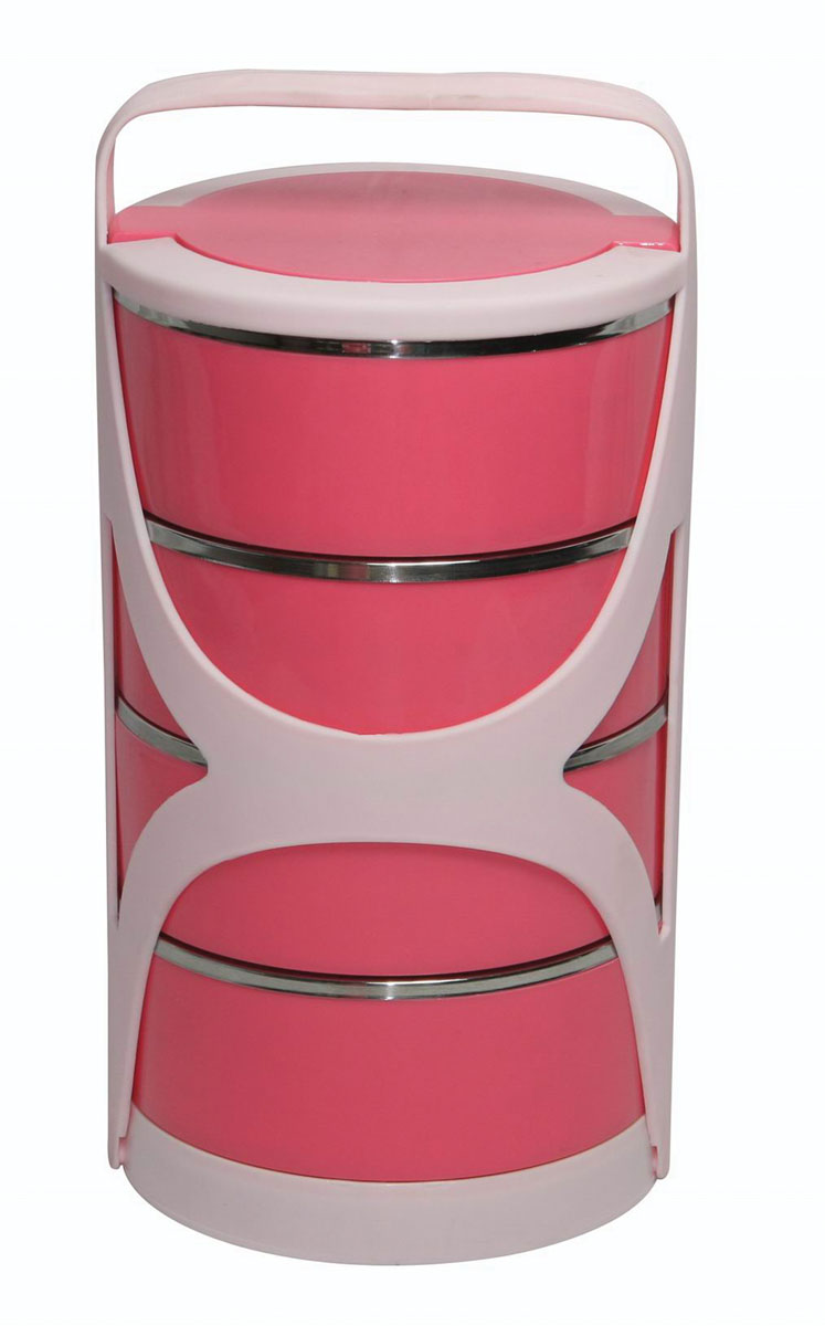 Набор термоконтейнеров Bekker Koch, 5 предметовVT-1520(SR)Набор Bekker Koch состоит из 4 термоконтейнеров, предназначенных для хранения пищевых продуктов, и пластикового держателя. Термоконтейнеры, располагающиеся друг над другом, снаружи выполнены из качественного пластика, внутри - из нержавеющей стали. Двойные стальные стенки термоконтейнеров обеспечивают длительное сохранение температуры содержимого. Пластиковые крышки и держатель обеспечивают герметичность хранения продуктов. Не подходит для использования в посудомоечной машине. Не использовать абразивные чистящие средства.Набор термоконтейнеров Bekker Koch идеально подойдет для поездок, похода, активного отдыха. Характеристики:Материал: пластик, нержавеющая сталь. Объем 1 термоконтейнера: 600 мл. Размер 1 термоконтейнера: 15 см х 15 см х 6 см. Общий размер конструкции: 30 см х 15 см х 15 см. Размер упаковки: 30 см х 16 см х 16 см. Производитель: Германия. Изготовитель: Китай. Артикул: BK-4314.