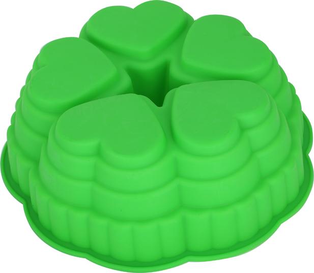 Форма для выпечки Bekker, цвет: зеленый, диаметр 25,5 см. BK-9450FS-80418Форма для выпечки Bekker изготовлена из силикона зеленого цвета - материала, который выдерживает температура от -50°С до +250°С. Изделия из силикона очень удобны в использовании: пища в них не пригорает и не прилипает к стенкам, легко моется. Приготовленное блюдо можно очень просто вытащить, просто перевернув форму, при этом внешний вид блюда не нарушится. Изделие обладает эластичными свойствами: складывается без изломов, восстанавливает свою первоначальную форму. Подходит для приготовления в микроволновой печи и духовом шкафу при нагревании до +250°С; для замораживания до -50°С и чистки в посудомоечной машине. Рекомендации по использованию: - не помещайте форму непосредственно на источник тепла (открытый огонь, гриль), - не используйте нож для резки продуктов в форме, - не используйте CRISP функцию при приготовлении в микроволновой печи, - не используйте для чистки абразивные средства, скребки и щетки. Характеристики:Материал: силикон. Цвет: зеленый. Диаметр формы: 25,5 см. Высота стенки: 8,5 см. Производитель: Германия. Изготовитель: Китай. Артикул: BK-9450.