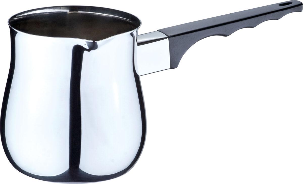 Турка Bekker De Luxe, 680 мл115510Турка Bekker De Luxe выполнена из высококачественной нержавеющей стали 18/10, внутриповерхность - матовая, снаружи - зеркальная. Емкость оснащена прочной бакелитовой ручкой черного цвета с выемками для пальцев. Турка имеет удобный носик для слива. Турку можно использовать на газовых и электрических плитах. Можно мыть в посудомоечной машине.