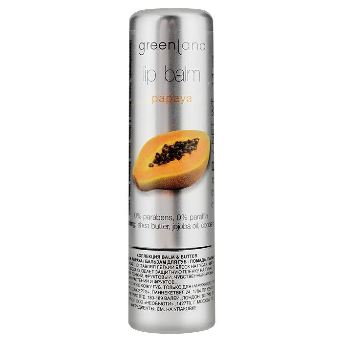 Greenland Бальзам для губ Balm & Butter, с папайей, 3,9 г2105Бальзам для губ увлажняет и питает, оставляя легкий блеск на губах. Мягкая обволакивающая текстура на основе пчелиного воска создает защитную пленку на губах, при этом не забивает поры и не вызывает привыкания. Тонкий, фруктовый, чувственный аромат папайи перенесет Вас в тропики - колыбель экзотических растений и фруктов...Способ применения: Наносите на чистую сухую кожу губ. Характеристики:Вес: 3,9 г. Артикул: 0977-BB15. Производитель: Нидерланды. Товар сертифицирован.Состав: клещевина, октилдодеканол, пчелиный воск, канделильский воск, карнаубский воск, масло жожоба, какао масло, этилгексил гидроксистеарат, каприлил/каприк триглицерид, этилгексил палмитат, масло ши, изодецилнеопентаноат, токоферол ацетат, бисаболол, лецитин.
