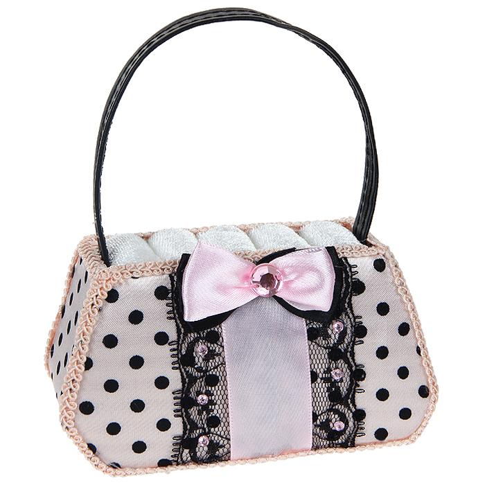 Подставка для колец Сумочка, цвет: розовый. 224705 сувенир подставка для колец кошка 8см